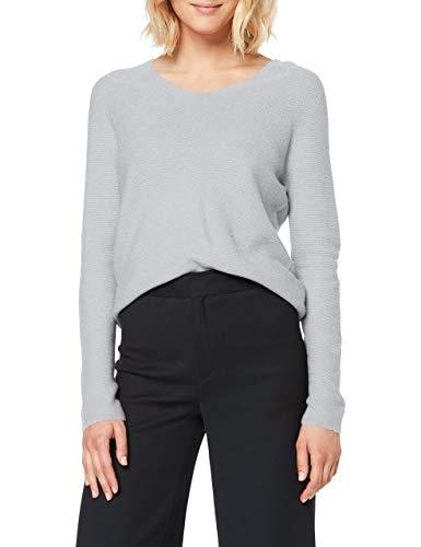 Marc Cain Damen Sweater Pullover, Grau (Silver Grey 810), 44 (Herstellergröße: 6)
