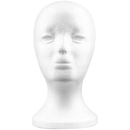 Practical Foam Female Mannequin Head Wigs Glasses Cap Display Holder Stand Model