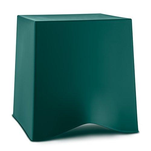 koziol Briq 5788649 - Sgabello da Bagno, in plastica, con poggiapiedi, Colore: Verde Smeraldo, 41,6 cm