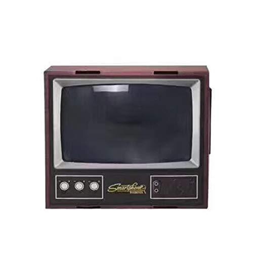 Greatangle Vintage TV Handy Smartphone Bildschirmlupe Videoverstärker Vergrößerter Expander Stand für Video TV Show Schwarz