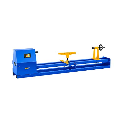 MSW Woodworking Lathe MSW-WL1000 (400 W, Length: 1010 mm, Ø 300 mm, 4 Rotation speeds up to 2,508 r/min, Idle Speed: 1,470 r/min)