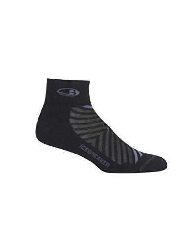Icebreaker Run+ Ultralight Mini chaussettes pour homme Noir/Monsoon, XL