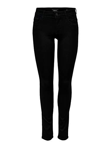 ONLY Damen Skinny Fit Jeans ONLSkinny reg. Soft Ultimate M32Black Denim