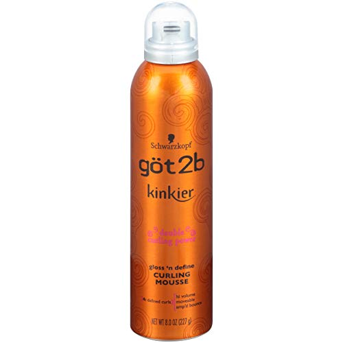 got2b Kinkier Gloss 'n Define Curling Mousse, 8 ounce