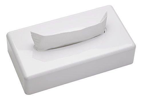Pole Achat - Boite à mouchoirs Rectangulaire Blanche Satinée pour Mouchoirs Papier