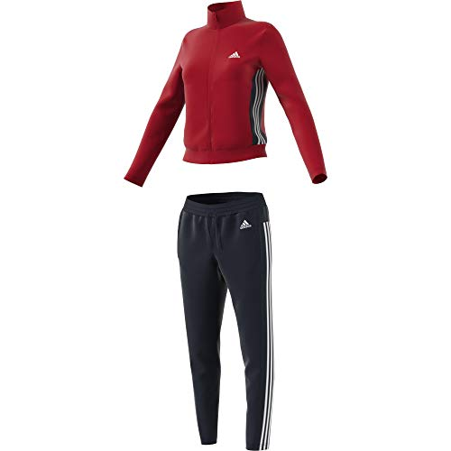 adidas Damen W TS Teamsports Tracksuit, Scarlet/Legend Ink, L