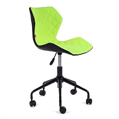 MY SIT Silla de Oficina giratoria Escritorio Taburete Altura Ajustable Cuero sintético sillón diseño Silla Nuevo INO Verde/Negro