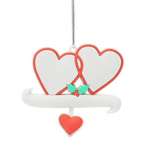Dan&Dre Pareja Colgante de San Valentín, Llavero Colgante en Forma de corazón, Regalo Colgante de PVC de San Valentín para Novio cónyuge, Parejas
