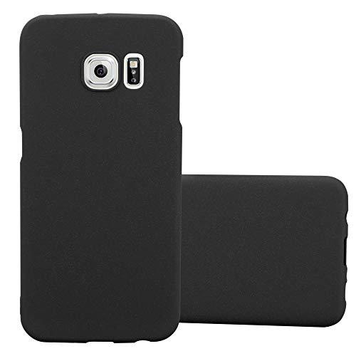 Cadorabo Custodia per Samsung Galaxy S6 Edge in Frosty Nero - Rigida Cover Protettiva Sottile con Bordo Protezione - Back Hard Case Ultra Slim Bumper Antiurto Guscio Plastica