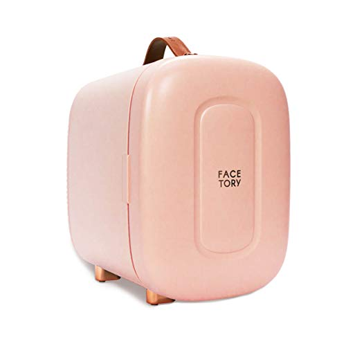 FaceTory Strawberry Skincare Fridge- Ice Cream Series- 5 Liters with LED Light, Temperature Display, Silent Mode for Dorm Room, Bedroom, Office