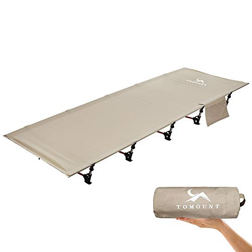 SMLFIT Compact Camping Cot, Portable Folding Lightweight Cot Bed,Easy Set Up,Heavy Duty for Outdoor Backpacking Hiking Travel Beach Army Cot