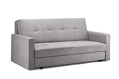 Honeypot - Sofa – Viva – Schlafsofa mit Stauraum – 3-Sitzer – grauer Stoff (großer 3-Sitzer)