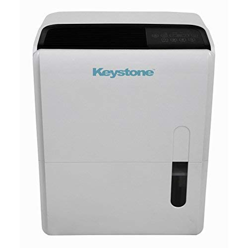 Keystone 95 Pint Dehumidifier with Built In Pump KSTAD957PA (Renewed)