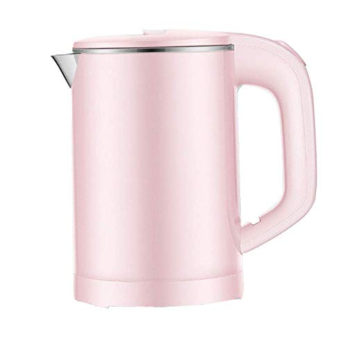 Electric Kettle,0.6L Capacity With Fast Boiling LED Indicator, 600W With 360deg;,304 Stainless Steel,Kettle Overheating Protection - dongdong (Color : Pink)