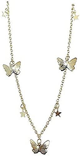 LBBYLFFF Collar de Moda Colgante Mariposa Pompon Collar Mujeres Regalos
