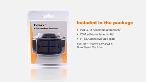 Fenix Stirnlampen Befestigung - für Befestigung am Helm mit Klebepolster für die Fenix HL55 und HL 60R geignet