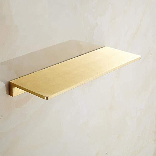 LXLH Shower Shelf,Nordic Brass Brushed Gold Bathroom Shelf Bathroom Cosmetic Countertop Phone Rack Bathroom Shelves Bathroom Accessories