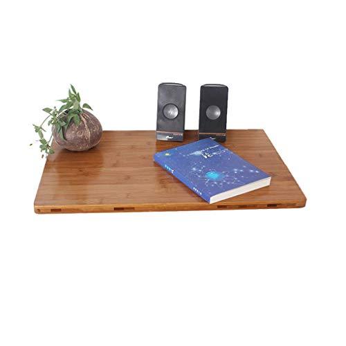 XLYYHZ Mesa rectangular de pared, mesa plegable de pared, escritorio de color de grano de madera, soporte de prensa de un dedo, mesa de ordenador, mesa de comedor/escritorio/mesa de trabajo