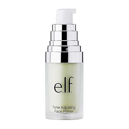 e.l.f, Tone Adjusting Face Primer - Small, Lightweight, Long Lasting, Silky, Smooth, Neutralizes Uneven Skin Tones and Redness, Preps Skin, Suitable For All Skin Types, 0.47 Oz