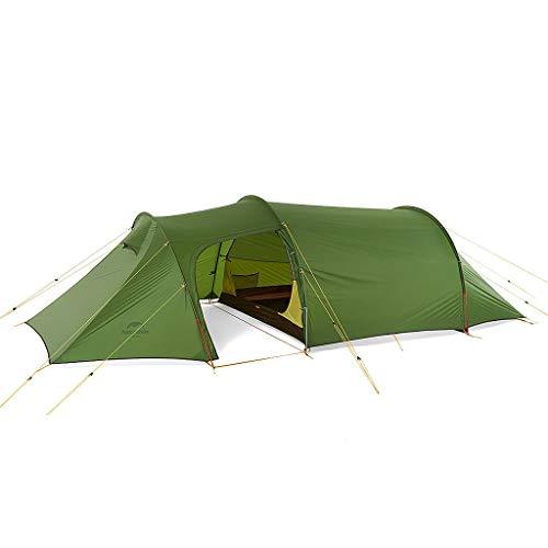 Naturehike(ネイチャーハイク) 3人用 OPALUS 3トンネルテント2ルームハウス 4シーズン 超軽量バックパックテント アウトドアスポーツキャンプ用 (3人用、緑、20D)