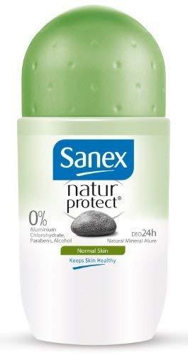 Sanex Natur Protect, Efficacit Naturelle, Natural Odour Control, Pierre D'Alun, Peaux Normales - Le Roll-On De 50Ml