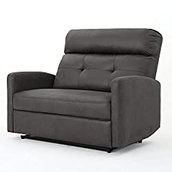 in budget affordable Christopher Night Home Harima 2-seater Microfiber Armchair, Slate