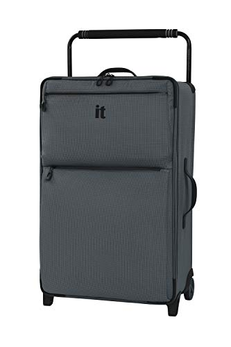 it luggage World'S Lightest Urbane 2 Wheel Super Lightweight Suitcase Maleta, 75 cm, 72 Liters, Gris (Charcoal Grey)