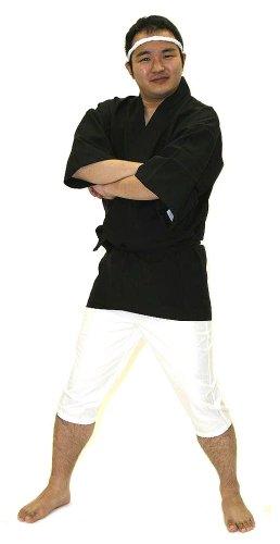 『Party City バラエティグッズ 祭りだ! はっぴ ユニセックス 着丈83cm 黒』の2枚目の画像
