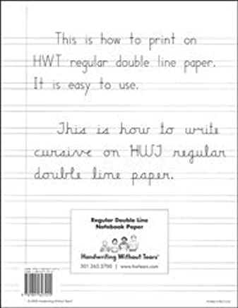 Handwriting Without Tears Lined Paper - 100 sheets: 9781891627255