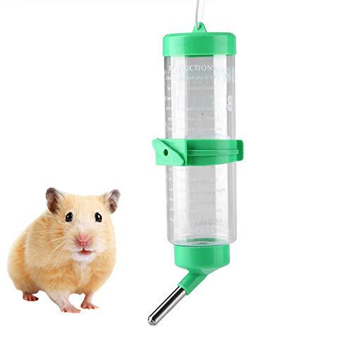 Haustier Trinkflasche Wasserspender zum Aufhängen 250ml Auto Wasserflaschen zum Aufhängen von Trinkbrunnen und Käfig, Hamster Trinkflasche für Kleintiere Nagen Chinchilla Kaninchen Ratten Frettchen