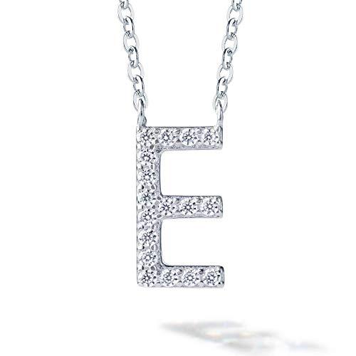Gift from New York イニシャル ネックレス レディース E プラチナ 加工 ブランド プレゼント 女性