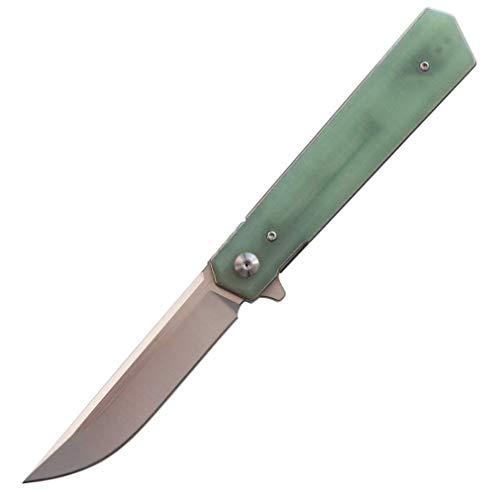 Eafengrow EF56 Kugellager Taschenmesser Küchenmesser 9Cr18Mov Klinge G10 Griff Klappmesser Outdoor Survival Camping EDC Werkzeug(Jade)