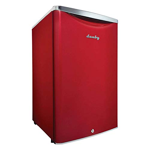 Danby DAR044A6LDB 4.4 cu.ft. Contemporary Classic Special Edition Compact All Refrigerator, Scarlett Metallic Red
