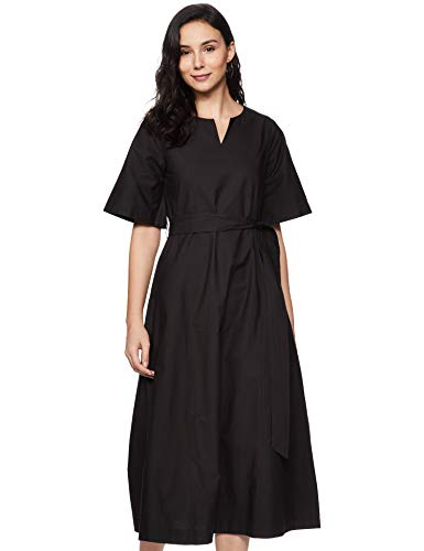 Amazon Brand – Symbol Women's Cotton Skater Maxi Dress