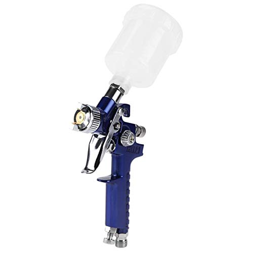 Fockety Pistola de pulverización neumática, cómoda y Ligera, 125 ml, Mini Boquilla de 0,8/1,0 mm, Pistola de pulverización por Gravedad Profesional, para Muebles,(H-2000A 1.0mm)