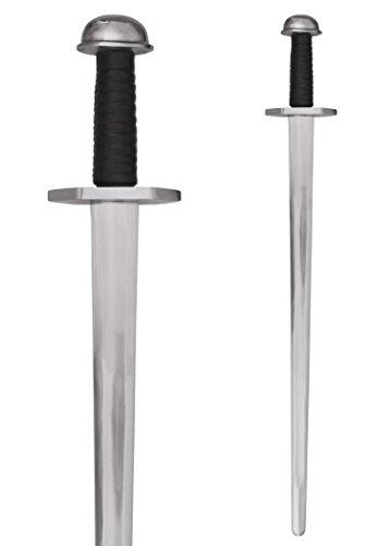 Battle-Merchant Wikingerschwert, für leichten Schaukampf, SK-C Echt Metall Schwert für Erwachsene