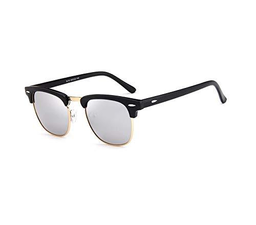 Top selling 2019 Zilver Spiegel Lens Hot Sale oculos de sol feminino zonnebril Heren Klassieke Wenkbrauwen Half Rim Zonnebril Mode Wenkgoed