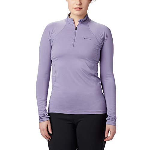 Columbia Midweight Stretch Camiseta Térmica con Cremallera Media, Mujer, Lila (Dusty Iris), L