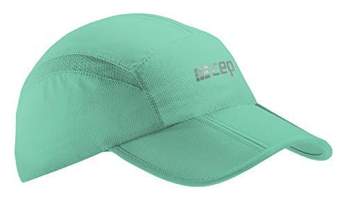 CEP – Running Cap   Atmungsaktive Faltbare Kappe mit Sonnenschutz und gebogenem Schirm in Mint in Unisex in one Size