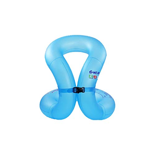 Schwimmring Kind Erwachsene verdicken aufblasbare Schwimmweste Schwimmausrüstung 1-3-6 Jahre alt (Color : Blue, Size : Adult Models -0.35mm)