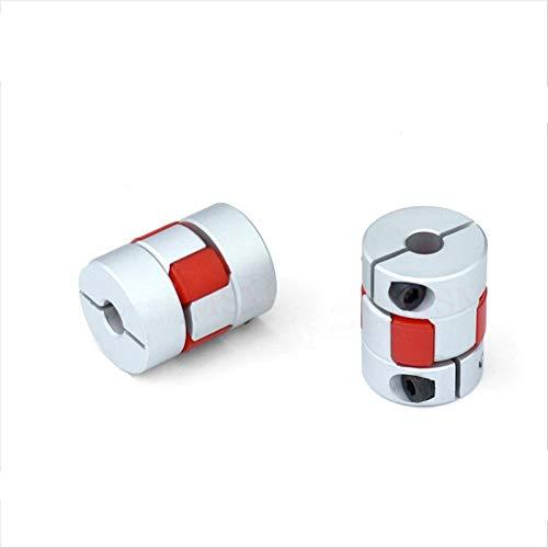 Basic Cellphone Cases Cnc Parts Coupler 2pcs/lot Shaft Couplers D20L25 Flexible Rubber Jaw for Motor Connector Aluminium for 3D Printer CNC (Inner Diameter : 4x5)