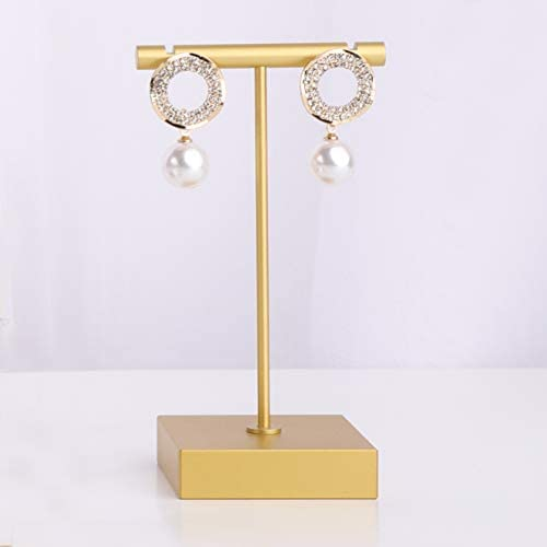 GemeShou Gold Metal Earring T Stand Jewelry Holder Dangle Earring Display for Photo Shoot Online product image