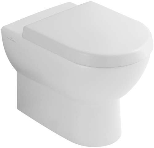 Villeroy & Boch WC Tiefspüler (ohne Deckel) Subway 37x56cm weiß alpin mit Ceramikplusbeschichtungi, 660710R1