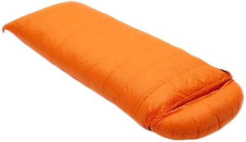 sleeping bag Portable Camping adult envelope mountaineering seasons ultralight down (capacity: 4.0 kg, color: orange)