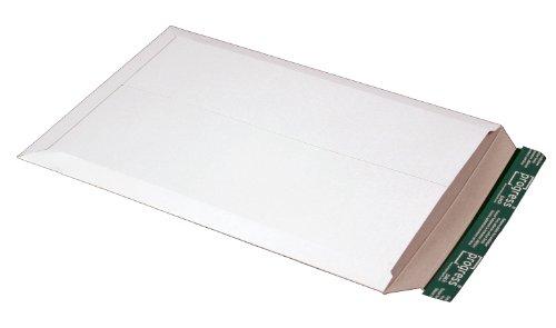 progressPACK Versandtasche PP V02.07 aus Vollpappe, DIN A3, 309 x 447 x bis 30 mm, 25-er Pack, weiß