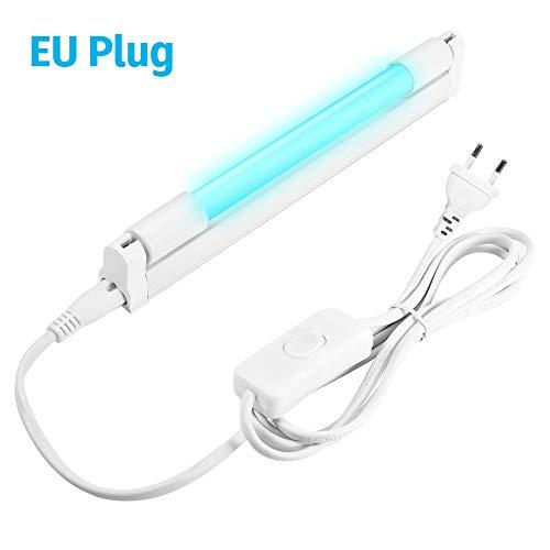 8W/10W UV T5 Lampadina tubo germicida Lampada disinfezione ozono Sterilizzatore UVC Uccidere acaro della polvere Cucina Camera da letto Ospedale 220 V Con spina europea (8)