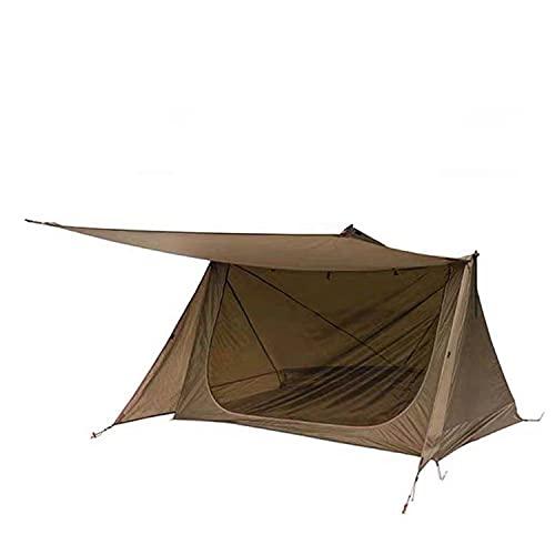 TAOBEGJ Carpa Túnel   Tienda Triangular para 1-2 Personas   Tienda De Campaña Portátil   Ultraligero, Resistente Al Agua   Tienda para Trekking, Camping, Outdoor, Mochilero,Brown
