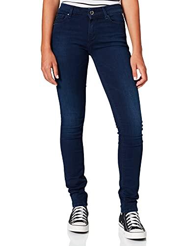 REPLAY Luz High Waist Vaqueros Skinny, Azul (Dark Blue 9), 25 W / 30 L para Mujer