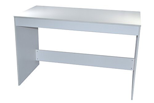 Markenlos Schreibtisch/Computertisch mit großer Arbeitsfläche weiß 120x60x75 cm (Rechnung mit MwSt.)