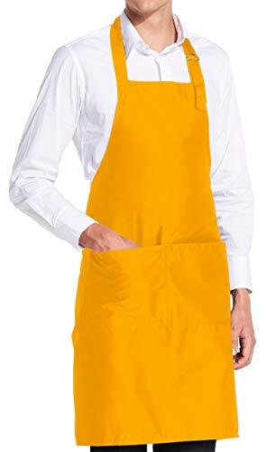 vanVerden - Premium Schürze - Gelb Blanko - Gelbe Latz-Schürze